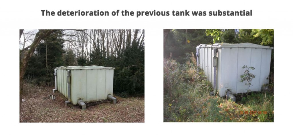 The deterioration of this tank was substantial