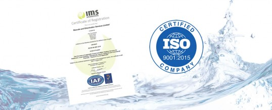 DCS achieves ISO 9001:2015 certification